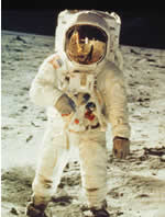 Neill Armstrong steps on the Moon