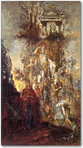 The Muses Leaving Their Father Apollo to Go and Enlighten the World by  Gustave Moreau.