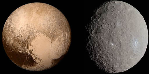 Pluto and Ceres