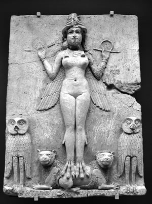 Inanna, Burney Relief