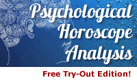 Psychological Horoscope Analysis by Liz Greene in a free Try-Out Edition