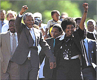 Nelson and Winnie Mandela...