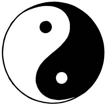 the yin/yang symbol shows that