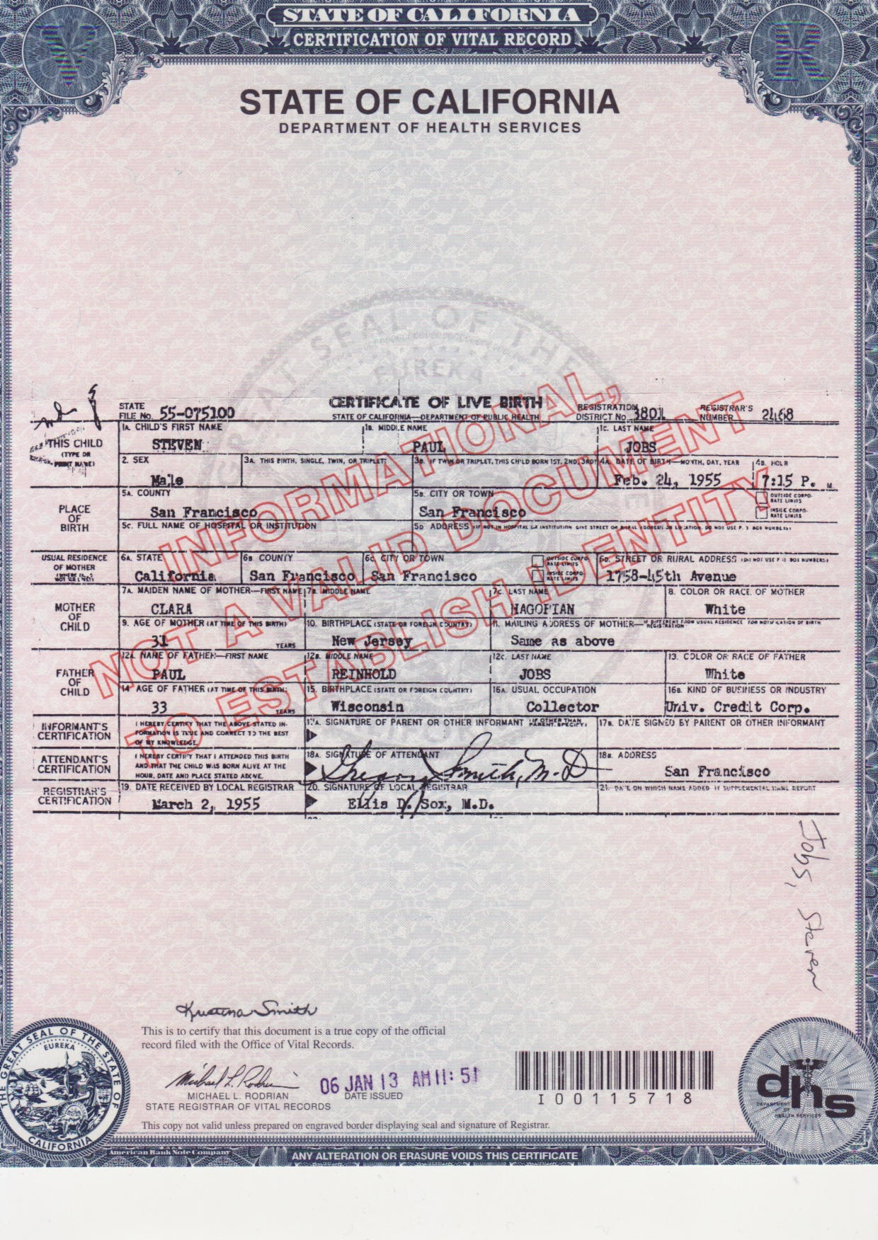 Steve jobs certificate which is online aiddatafo Gallery