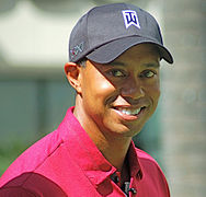 Tiger Woods photo: Angela George, license cc-by-sa-3.0 - 188px-TigerWoodsOct2011