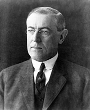 Woodrow Wilson - 180px-President_Woodrow_Wilson_portrait_December_2_1912