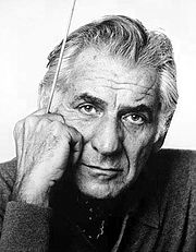 Leonard Bernstein photo: Jack Mitchell, license cc-by-sa-3.0 - 180px-Leonard_Bernstein_by_Jack_Mitchell