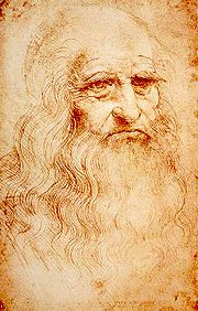 Portrait of Leonardo da Vinci (click to view image source)