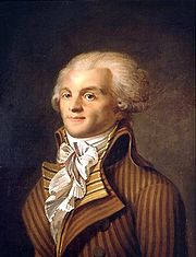 Portrait of Maximilien Robespierre (click to view image source)