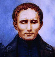 Portrait of Louis Braille (click to view image source)