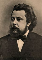 Portrait of Modest Mussorgsky (click to view image source)