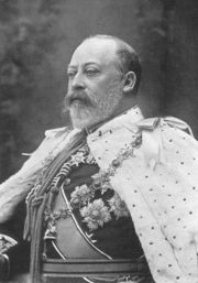Portrait of King of England Edward VII (click to view image source)