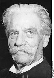 Portrait of Albert Schweitzer (click to view image source)