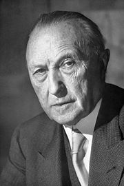 Portrait of Konrad Adenauer (click to view image source)