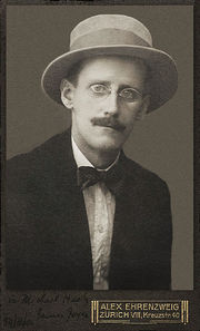 Portrait of James Joyce (click to view image source)