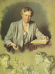 Portrait of Eleanor Roosevelt (click to view image source)