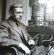 Portrait of Jean-Paul Sartre (click to view image source)