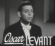 Portrait of Oscar Levant (click to view image source)
