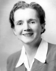 Portrait of Rachel Carson (click to view image source)