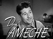 Portrait of Don Ameche (click to view image source)