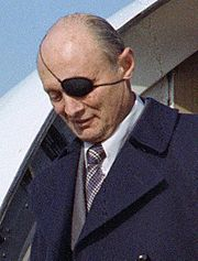 Portrait of Moshe Dayan (click to view image source)