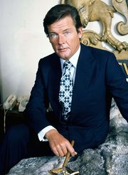 Portrait of Roger Moore (click to view image source)