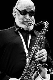Portrait of Sonny Rollins (click to view image source)