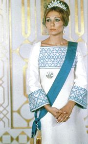 Portrait of Empress Farah Diba Pahlavi (click to view image source)