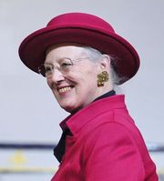 Portrait of Queen of Denmark Margrethe II (click to view image source)