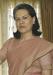 Portrait of Sonia Gandhi (click to view image source)