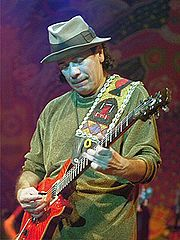 Portrait of Carlos Santana (click to view image source)
