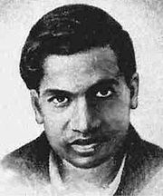Portrait of Srinivasa Ramanujan (click to view image source)