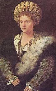 Portrait of Isabella D'Este Gonzaga (click to view image source)