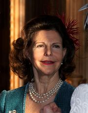 Portrait of Queen of Sweden Silvia (click to view image source)