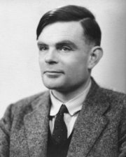 Portrait of Alan Turing  (click to view image source)