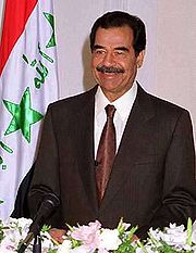 Portrait of Saddam Hussein (click to view image source)