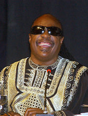 Portrait of Stevie Wonder (click to view image source)