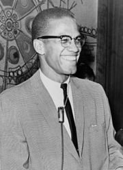 Portrait of Malcolm X (click to view image source)