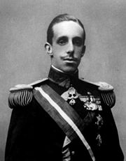 Portrait of King of Spain Alfonso XIII  (click to view image source)