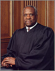 Portrait of Clarence Thomas (click to view image source)