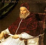 Portrait of Pope Gregory XIII (click to view image source)