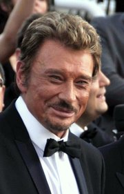 Portrait of Johnny Hallyday (click to view image source)