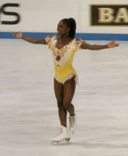 Portrait of Surya Bonaly (click to view image source)