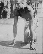 Portrait of Jesse Owens  (click to view image source)