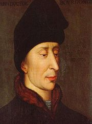 Portrait of Duke of Burgundy John (click to view image source)