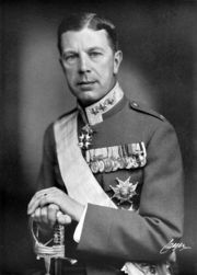 Portrait of Gustaf VI Adolf King of Sweden (click to view image source)