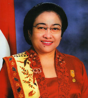 Portrait of Megawati Sukarnoputri (click to view image source)