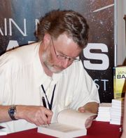 Portrait of Iain Banks (click to view image source)