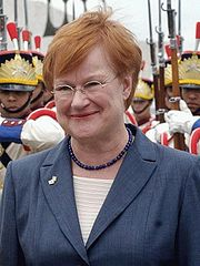 Portrait of Tarja Halonen (click to view image source)