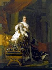Portrait of King of France Charles X (click to view image source)